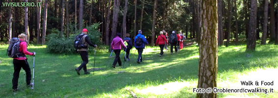 orobie nordic walking walk and food