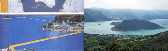 the floating piers lake iseo where